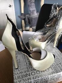 Brand new ivory heels