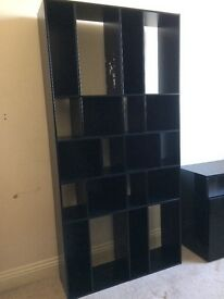 Habitat Black resin bookcase