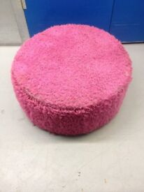 RETRO 60'S STYLE LARGE PINK POUFFE