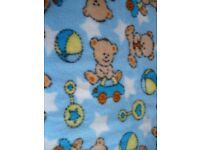 1 Meter Fleece Material - Teddy Bear Pattern