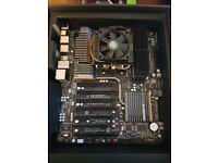 Gigabyte SKT-AM3+ motherboard with AMD 8150 Bulldozer 8 Core CPU + 16 GB Ram