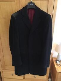 M&S luxury Italian wool and cashmere overcoat (medium)