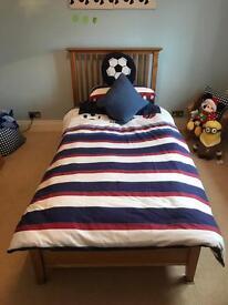 Child's Solid Light Oak Single Bed