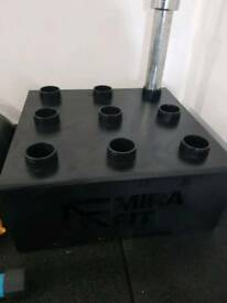 GYM EQUIPMENT -MIRAFIT BARBELL STORAGE RACK
