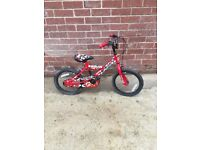 Small Boys Camoflauge Red White Black Mountain Bike