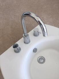 Sink taps and pedestal