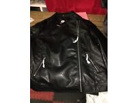 boohooquilted faux leather biker jacket size 18