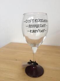 Novelty wine glass