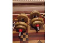 York Weights-Dumbells and Short Bars