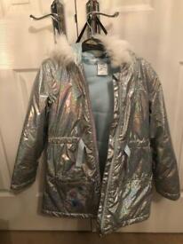 Disney Elsa fleece lined jacket with hood age 9-10