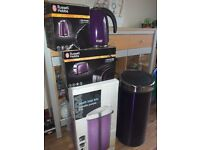 Brand new kettle, toaster and pedal bin