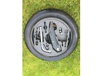 Space saver spare wheel and kit for vw touran