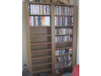 Large freestanding multimedia storage unit