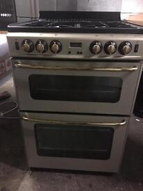 Stoves gas cooker black and gold 60cm