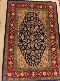 Vintage Hand Made Persian Qum %100 Silk Rug 91cm x 62cm