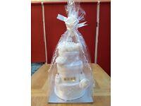 Newborn Baby Gift - 3 Tier Nappy Cake