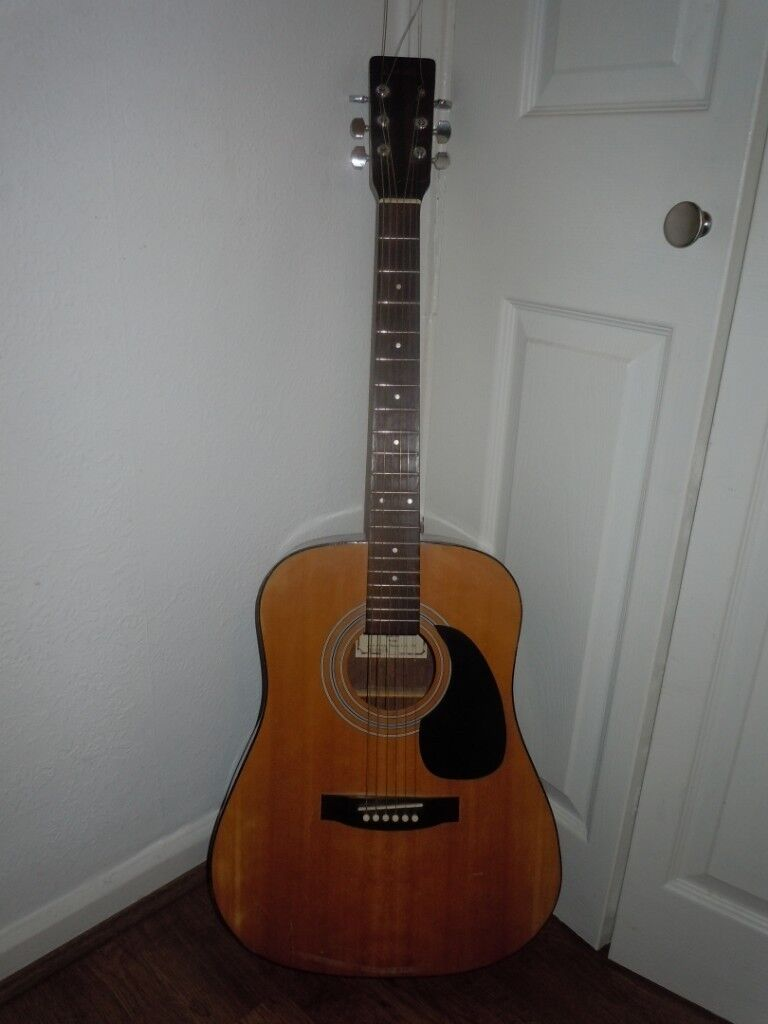 Musical Instruments & Gear Encore Acoustic Electric Guitar W250