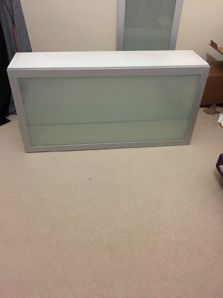 White And Gl Horizontal Bathroom Cabinet