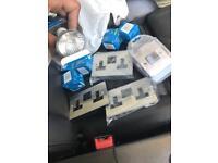 JOB LOT sale light switch plug sockets door handle LED bulb fire alarm Bluetooth speaker