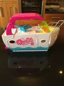Polly Pocket Boat with accessories