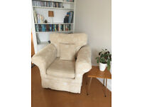 3 seater sofa and matching armchair with fire resistant tags