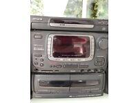 aiwa radio 3cd and cassette player