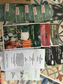 £10 only - Vegetable seeds, many unopened - joblot