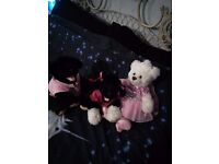 BUILD A BEAR TEDDY, 2 DOGS AND CLOTHES WOW!