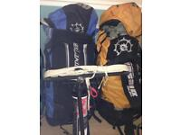 Kitesurfing kites Slingshot 6m, 11m, bars with leashes, harnesses and board