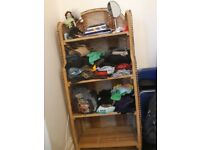 Shelving and storage space for clothes, books, etc