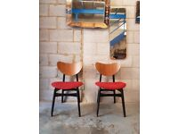 2 x Mid Century G Plan Butterfly Retro Chairs