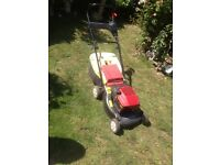 Mountfield self propelled petrol lawnmower with electric start. For spares or repair