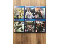 PS4 6 GAME BUNDLE - TOP TITLE GAMES