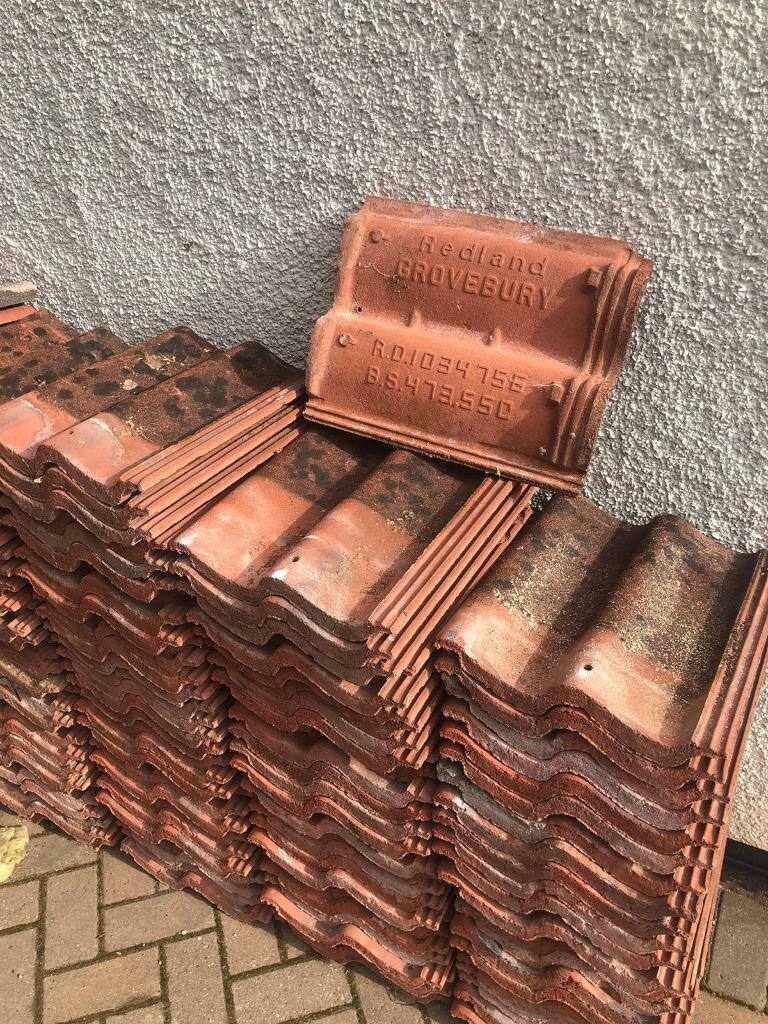 Redland Grovebury Roof Tiles - red/brown used | in Staple ...