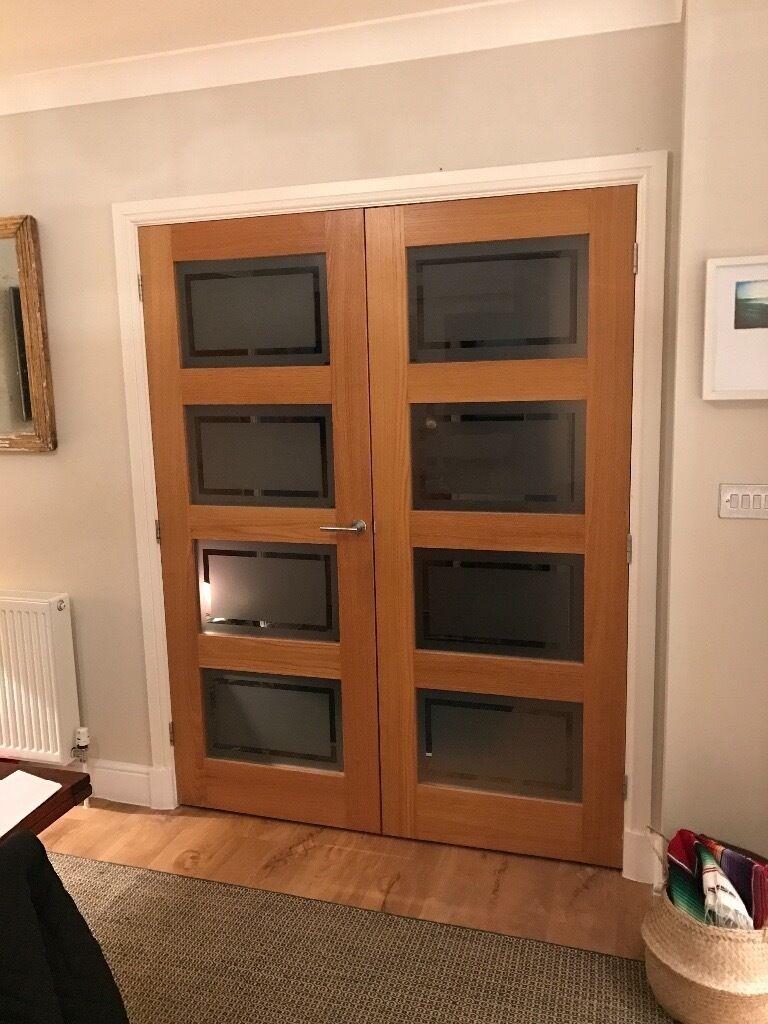 Glazed oak double doors howdens in kings worthy hampshire gumtree glazed oak double doors howdens rubansaba