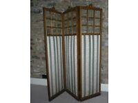Screen, 19th Century 3 Panel Glazed REDUCED!!