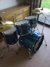 Tama Imperial Star 5 drum kit with hardware and cymbals