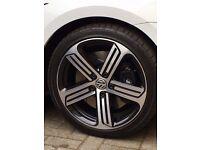 4 x Genuine Volkswagen VW Golf R GTI GTD MK7 Cadiz 18 Inch Alloys Wheels + Tyres