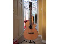 Freshman FA1AN Electro Acoustic Guitar with Hard Case.