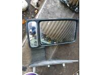 Iveco Daily box van mirror, Left side, Long arm mirror