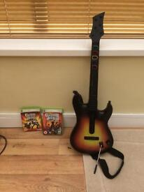 Guitar hero Xbox 360 set