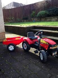 Falk toy tractor and trailer