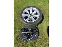 """Full Size Spare 18"""" Alloy Wheel Kit for Jaguar XF or similar"""