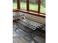 Conservatory Furniture - Metal Framed Seating Bench