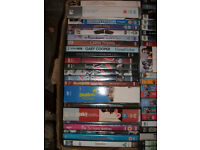 LARGE BOX OF 62 DVDs INCLUDING 50 BOXSETS