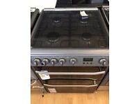 HOTPOINT GAS COOKER IN WHITE AND SILVER EX CATALOG