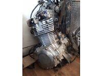 Katana 400 Engine, Exhaust and running gear