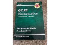 CGP GCSE Mathematics Exam Board: EDEXCEL Foundation Level revision guide