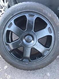 "Audi A3 17"" alloys tyres genuine 5/100"