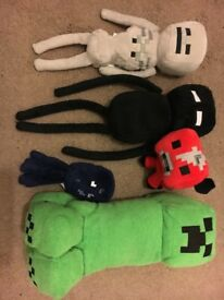 Minecraft Plush Toys 6-off great condition
